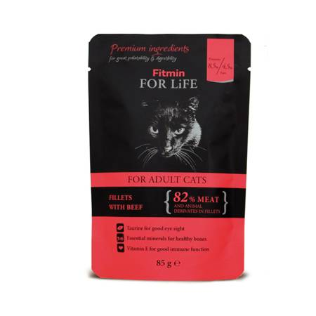 FITMIN Cat For Life Pouch Adult 85g